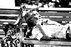 Sleeping time (ysoseriuos) Tags: sleeping blackandwhite bw india man monochrome peace sleep chennai sleepingman vedanthangal soundsleep