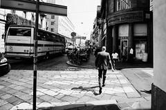 Milan (boldlyatomicwerewolf) Tags: milan milano italy blackandwhite streetphotography city street fujixt1 samyang12mmf2 sunlight