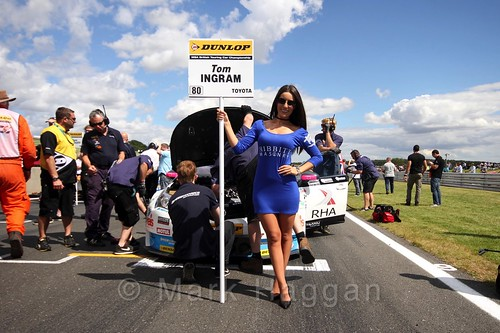 Tom Ingram's car during the Grid Walks at the BTCC 2016 Weekend at Snetterton