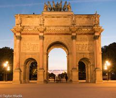 The Arc de Triomphe du Carrousel by the Louvre (TaylorH22) Tags: flickr other arc triomphe carrousel france paris night evening golden