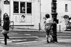 Paris Street Playground. (kitchou1 Thanx 4 UR Visits Coms+Faves.) Tags: art architecture bw cityscape enfant et europe exterior france kids landscape mural nb paris people season street streetart summer world saison