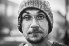 (red line highway) Tags: homeless portrait face social documentary street photography photojournalism spring city nikon russia helios stpetersburg   bokeh people life black white monochrome blackandwhite hope 50mm