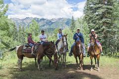 Family on Horseback - Durango (aaronrhawkins) Tags: horses horseback riding buckslivery durango colorado durangomountainresort purgatory trail mountains family pose kids vacation summer aaronhawkins rent
