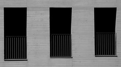 three I (steven.jb) Tags: abstract abstraction abstracture abstracto abstractimages abstractexpression minimal minimalism minimalistic minimalisme blackwhite architecture arquitectura simple simplicity simplecomposition outdoors three line lines