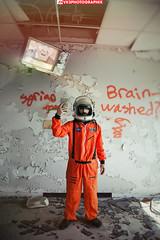 Futureboy (VKMUSTBEDESTROYED) Tags: future donaldtrump politics tv detroit urbex abandoned dystopia spacesuit destroy hospital dystopian