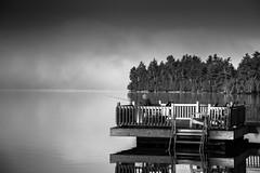 Blue Mountain Lake - NY Adirondacks (RobMatthews) Tags: newyork hemlockhall adirondacks newyorkstate bluemountainlake fishing cloud fog mist