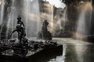 Sunbeam and Fountain