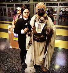 (timp37) Tags: tusken raider wednesday addams cosplay conlife illinois chicago wizard world comic con august 2016 summer rosemont convention center star wars family cosplayers