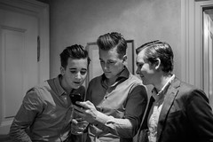 Hair (romanboed) Tags: leica m 240 summilux 50 black white monochrome available light low young man hair style grooming brothers hotel grand prague czech night alchymist indoor pompadour undercut side part pomade clay