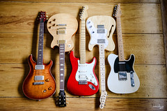Left to Right (Daniel Y. Go) Tags: nikon nikond810 d810 fx philippines gibson fender suhr prs guitars music stratocaster telecaster classict mccarty