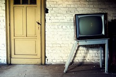End Of Life (Wijnand Kroes Photography) Tags: urbex door wall tv broken yellow decay table