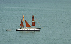 Brown Sails (Cornishcarolin. Just moved house!! BUSY!!! xxxxxx) Tags: cornwall falmouth boats yachts water riverfalestuary