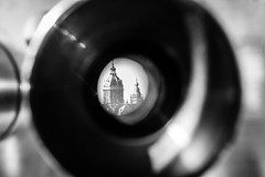 Through the telescope (Gabrielradio) Tags: rosso netherlands trip nemo bw telescope cool glass round amsterdam distance nikon d610 eye