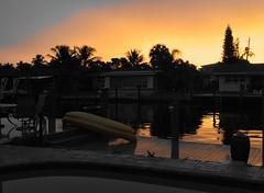 Canal Evening - POTD #135 (sdobie) Tags: 2016 potd canals kayaks 20thave docks sunset