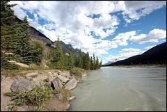 Bow River and Shoreline (greenthumb_38) Tags: canada alberta canon40d canaianrockies jeffreybass candaandnorthdakotaadventureof2012