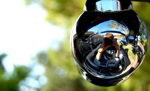 light sky sun house reflection tree tower me metal yard boat nikon shiny wake board rack trailer fron