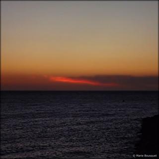 Langue de feu au lever du soleil du 1er septembre 2012