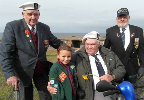 Arctic Co 1nvoy veterans at Loch Ewe memorial 1