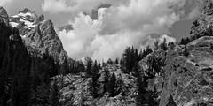 The Mountain Valley (NateAllen) Tags: blackandwhite snow mountains landscape nationalpark summit wyoming grandtetons grandtetonnationalpark