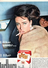 the 1960s-1964 ad for cigarettes (april-mo) Tags: ad smoking cigarettes vintagead 1964ad 1964adforcigarettes 1964malborocigarettes