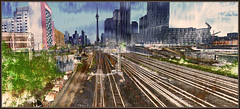 Urban Vista: Railway Lands Conversion (Tim Noonan) Tags: street city bridge urban toronto colour texture skyline digital photoshop buildings cityscape view conversion railway vista bathurst shining development mosca hypothetical vividimagination artdigital railwaylands shockofthenew trolled stickybeak sharingart maxfudge awardtree maxfudgeawardandexcellencegroup magiktroll exoticimage digitalartscene netartii vividnationexcellencegroup