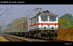 Sealdah Duronto Express (Raj Kumar (The Rail Enthusiast)) Tags: new speed canon coach delhi indian tracks express railways raj abb lhb kumar howrah dhanbad sealdah 30280 duronto wap7 sx30is