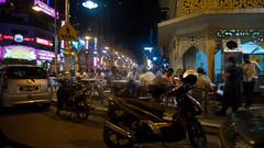 Hanging out (jenschuetz) Tags: street nightphotography travel vacation holiday motion blur southeastasia driving traffic malaysia neonlights nightlife kualalumpur aroundtown kl overseas gettinouttadodge