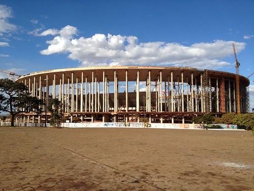 Construção do Estádio Nacional de Brasília