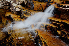 Orange Falls (Chad Dutson) Tags: summer orange art nature water rock creek forest river landscape utah waterfall high scenery stream uinta uintas outdoor fine falls erosion upper national wilderness provo