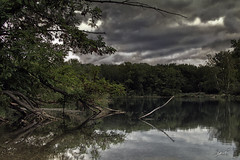 I can feel the rain (ingridworks) Tags: sky lake reflection nature water landscape see wasser natur himmel wolken clauds landschaft spiegelung ingridworks