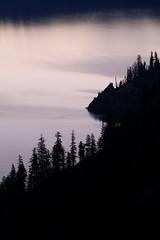 Crater Lake: Lilac dawn (Shahid Durrani) Tags: park lake oregon dawn national crater