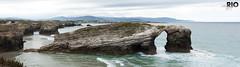 Panorama (riomicael) Tags: panorama mer praia beach nature water rio agua nikon eau espana galicia espagne plage rocher ocan micael galicie d700 catredais riomicael