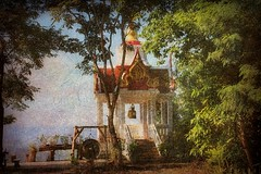 Stillness (ulli_p) Tags: trees light red painterly tree art texture nature colors beautiful architecture photoshop buildings landscape thailand 1 colorful asia southeastasia colours buddhism best mekong textured sincity isan mekongriver likeapainting amazingcolours anawesomeshot flickraward texturedphoto earthasia thebestshot awardtree tatot bestflickrphotography totallythailand artofimages magicunicornverybest exoticimage canoneoskissx5 kurtpeiserexcellence creativephotocafe