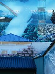 (Cassandra's Eye) Tags: blue building wall mural paint princerupert