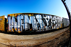 KEMS YETI (DCAN 1) Tags: railroad car train graffiti all full chrome boxcar yeti freight endtoend kems top2bottom 090712