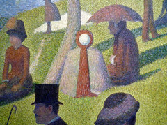 Seurat, A Sunday on La Grande Jatte—1884, detail with nurse (?)