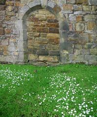 Covered Archway (Kombizz) Tags: flowers castle rocks stonework lawn battle covered archway eastsussex concealed sealed whiteflowers 5894 kombizz rockstones coveredarchway concealedgate sealedarchway