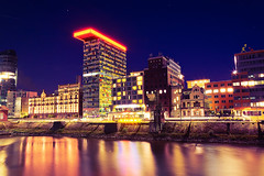 Media Harbour Dsseldorf (_flowtation) Tags: longexposure blue light reflection water colors reflections river germany deutschland lights licht nikon wasser nacht gehry fernsehturm nightshots vodafone bluehour blau hafen dsseldorf rhine rhein frankgehry spiegelung duesseldorf tvtower lichter nighthawks televisiontower langzeitbelichtung rheinturm medienhafen blauestunde rheinriver mediaharbour rhinetower rheintower mediaharbor hayatthotel d5100 gehrydsseldorf alterzollhafen nikond5100 hayattdsseldorf
