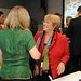 UN Women Executive Director Michelle Bachelet greets Nobel Peace Laureate Jody Williams at the high-level event \