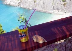 Fanta lemon (malin j a) Tags: sea summer hot bread lemon turqouise greece zante fanta