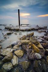 Pantai Remis Sunset (Muhammad Hafiz Muhamad) Tags: landscapes seascapes malaysia pantai selangor remis mhafiz87