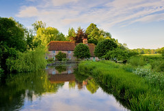 Very English! (Mark A Jones (Andreas Jones Photography)) Tags: summer england reflection beauty river countryside nikon hampshire stockbridge rivertest rivercottage leefilters d700 houseonriver