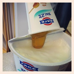 Greek yogurt n honey. (Mindy Hertzon) Tags: greek honey yogurt fage