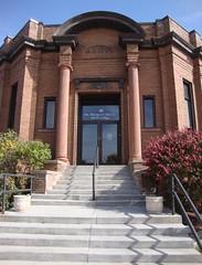 Old Carnegie Library Detail (Albert Lea, Minnesota) (courthouselover) Tags: minnesota libraries mn albertlea carnegielibraries freeborncounty