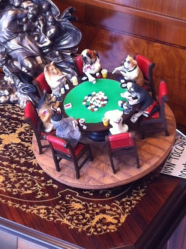 Dogs Playing Poker statuette by J'Roo, on Flickr