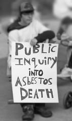 Canada Anti-Asbestos Supporter (Asbestorama) Tags: ontario canada sign remember action walk rally protest demonstration sarnia placard victims asbestos