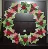 Quilled/Origami/Felt Poinsettia Wreath (DeannaAv) Tags: christmas paper origami wreath quilling