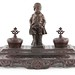 171. Contemporary Metal Figural Inkwell