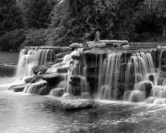 Smooth Waterfall (Phyllis74) Tags: bw fall water waterfall kentucky louisville papajohns