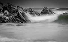 Rocks & Waves (Mika Laitinen) Tags: atlanticocean beach canon7dmarkii europe landscape nature ocean outdoor portugal rock sea seascape shore sky summer water beja pt wave